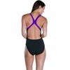 speedo SunBloom Placement Digital Powerback Naiset Uimapuku , musta/monivärinen